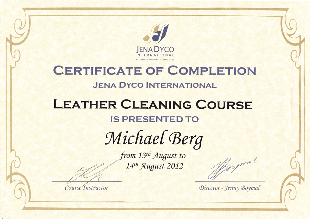 Michael-Berg-LEATHER-CLEANING-Certificate