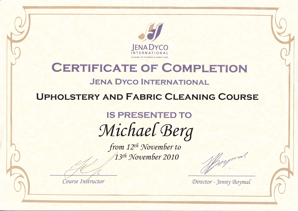 Michael-Berg-UPHOLSTERY-CLEANING-Certificate