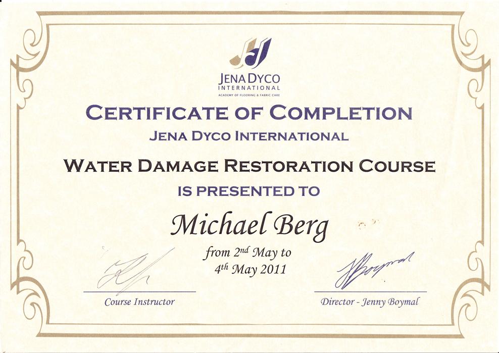 Michael-Berg-WATER-DAMAGE-Certificate