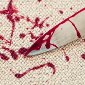 blood on carpet