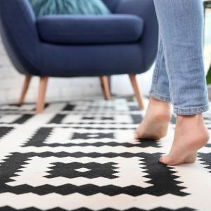 walking on carpet
